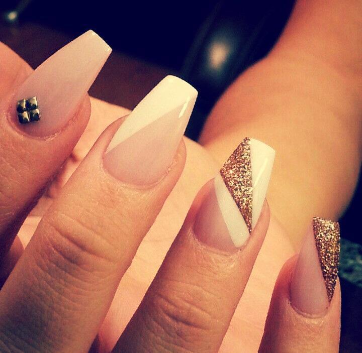 Ногти зауженный квадрат дизайн