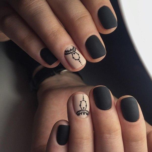 Маникюр матовый на короткие ногти фото