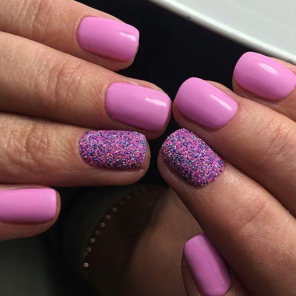 Розовый на короткие ногти