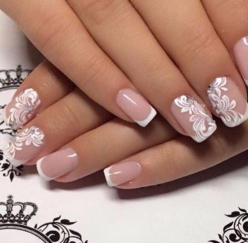 Дизайн ногтей белый френч 2017