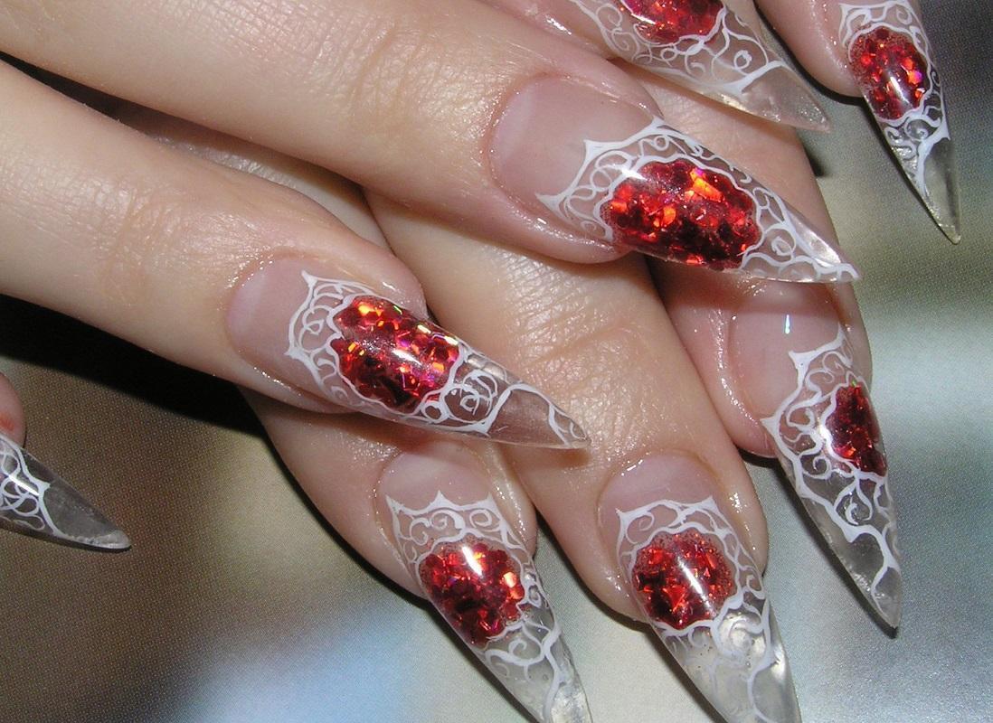 Острые ногти: аквариумный дизайн