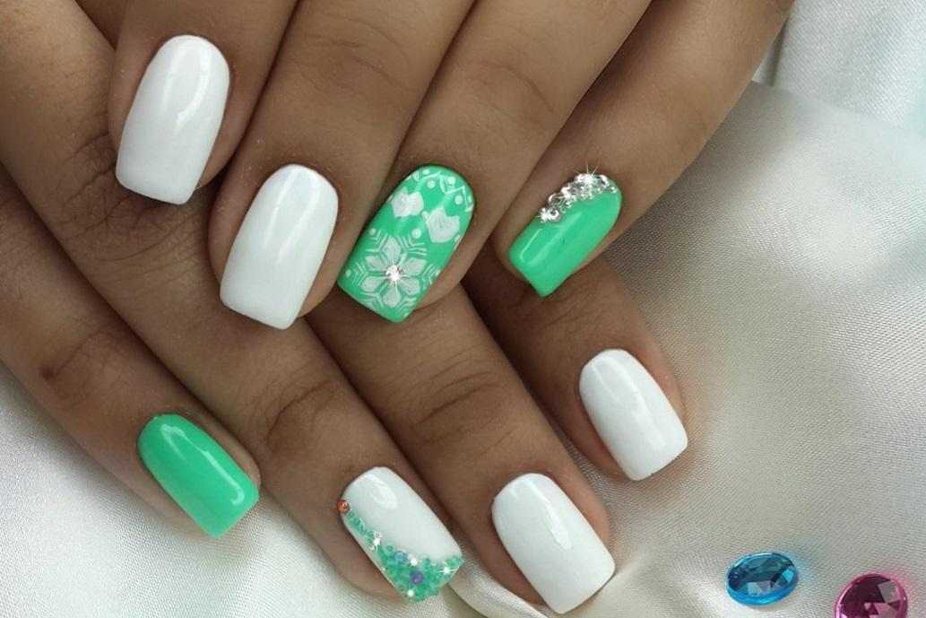 Белый с зеленым: нежное настроение