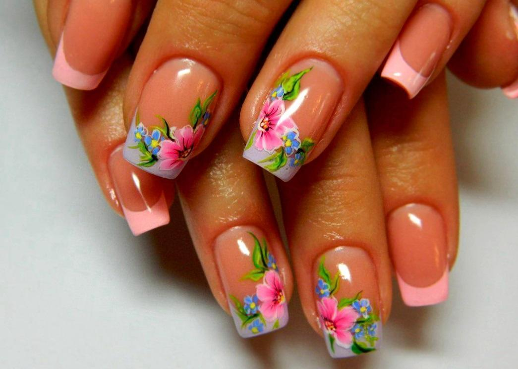 Весенний слайдер-дизайн для ногтей