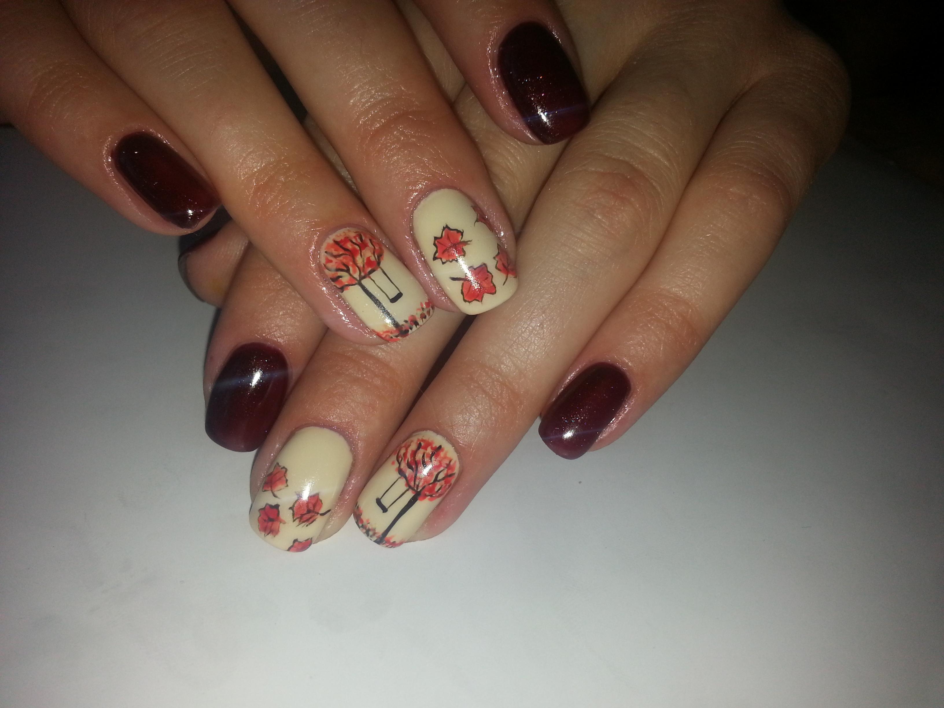 Осень: художественная роспись на ногтях