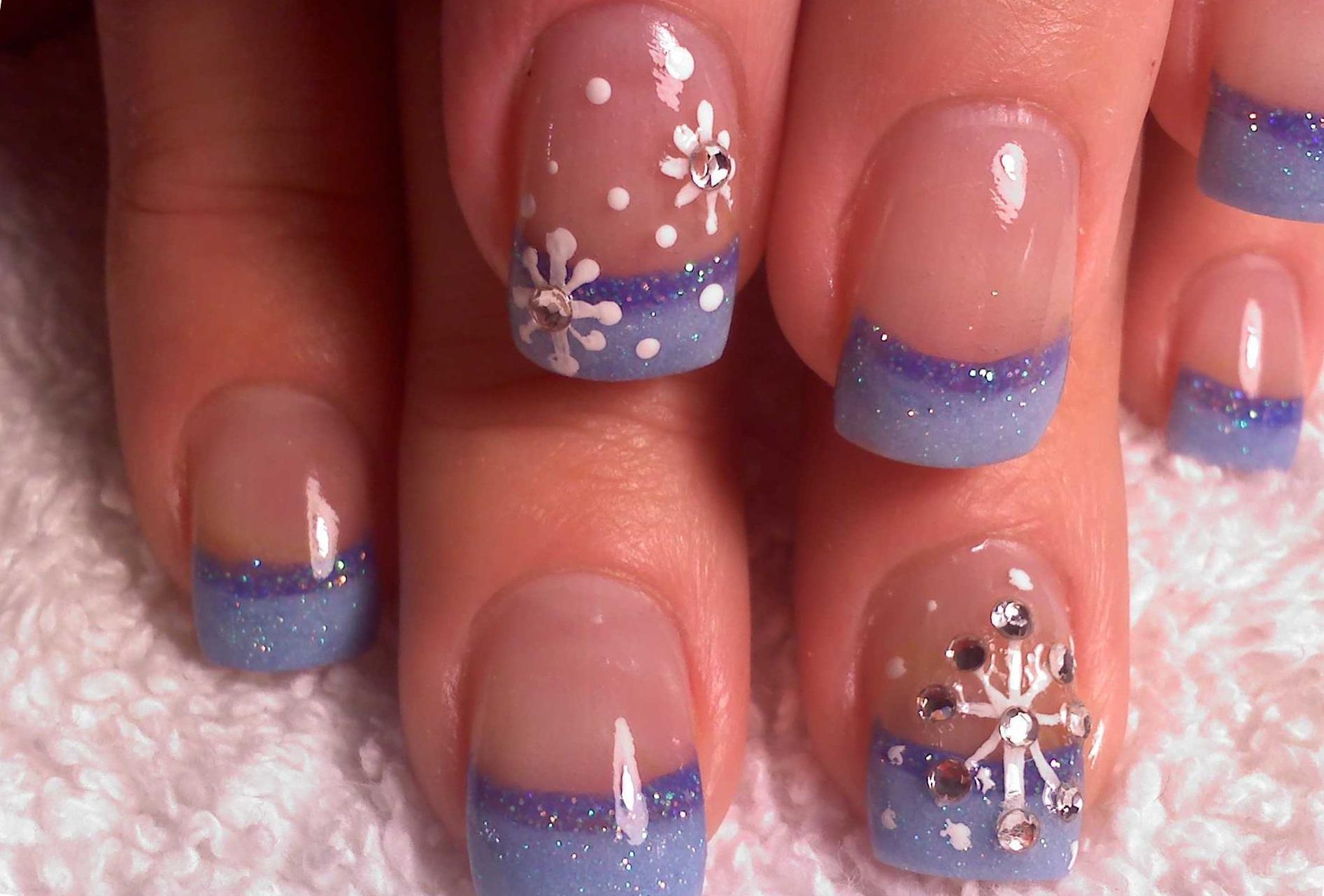 Дизайн ногтей зимний фото новинки
