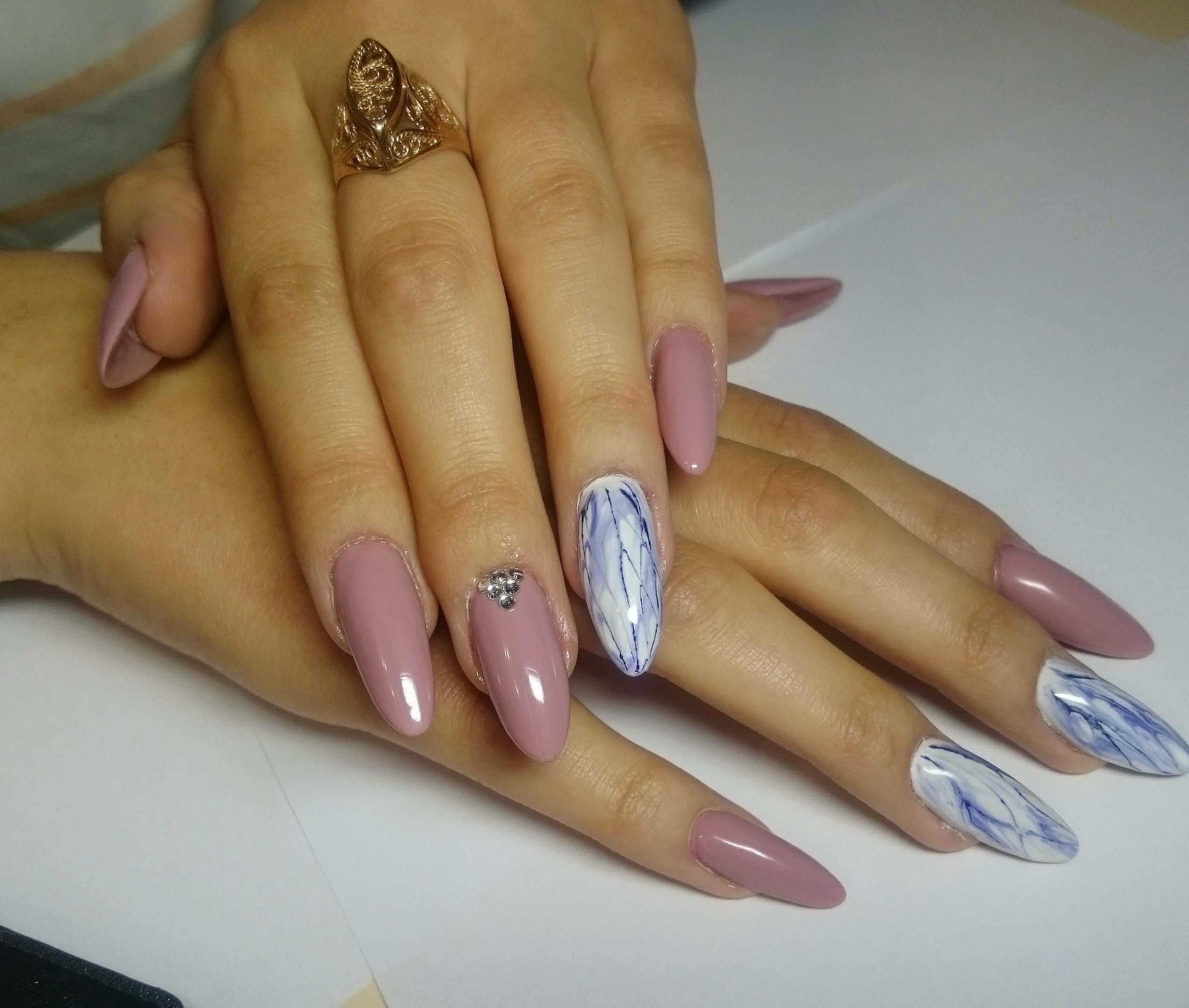 Классное нарощенные ногти фото