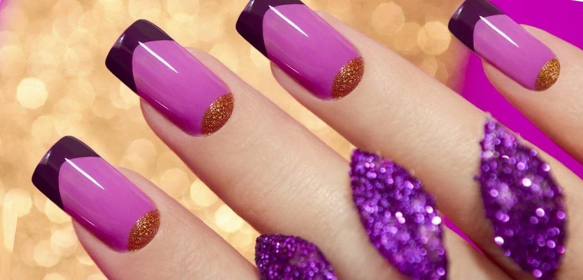 Фиолетовый френч с «лунными» мотивами