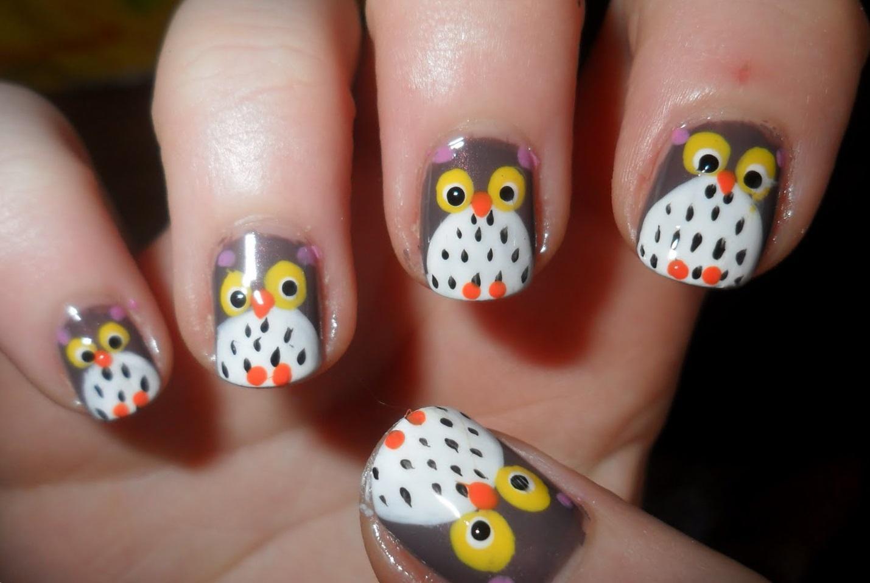 Совы на коротких ногтях