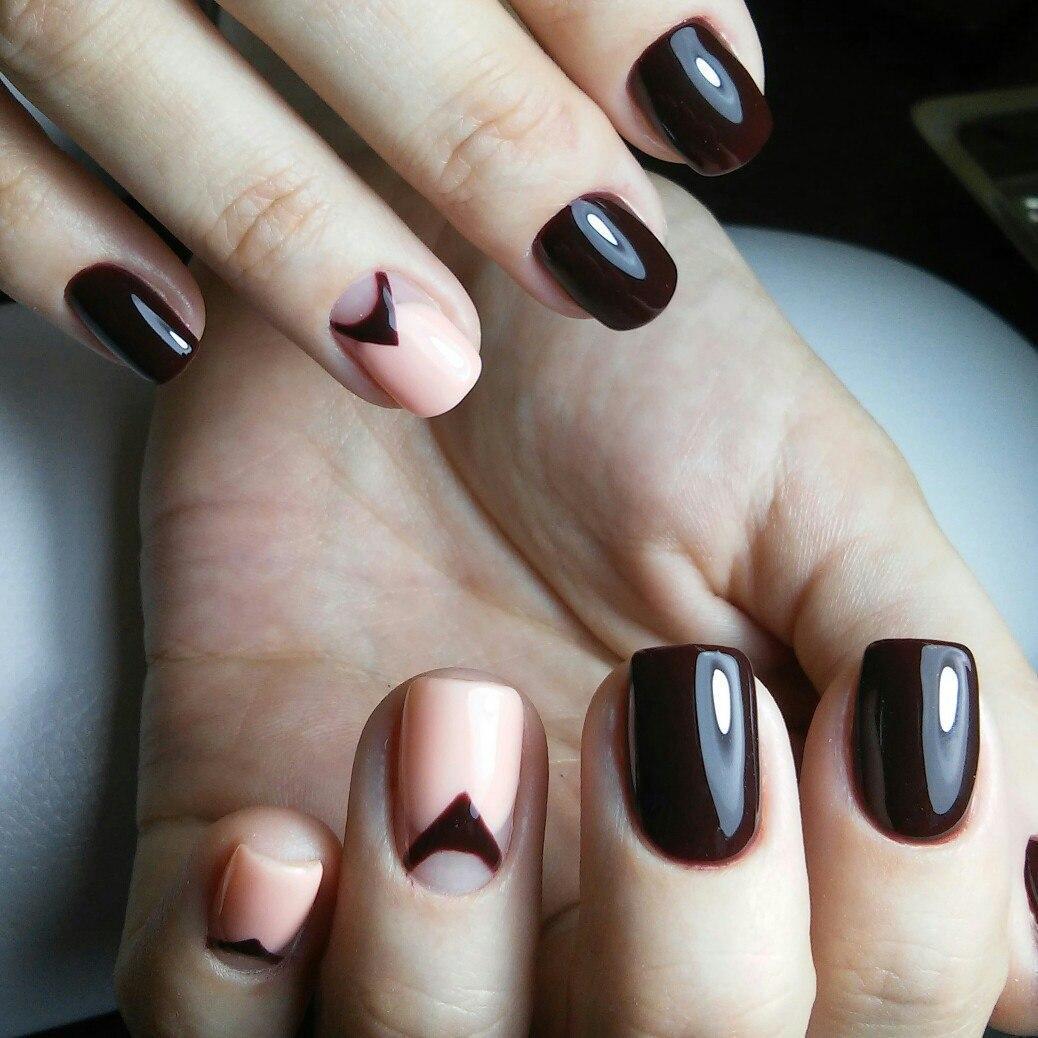 Темные шоколадные ногти
