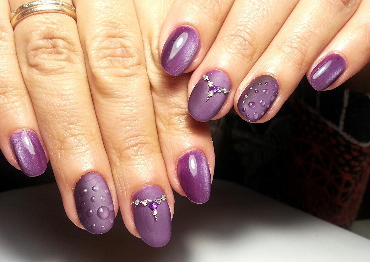 Красивый Маникюр На Короткие Ногти Со Стразами