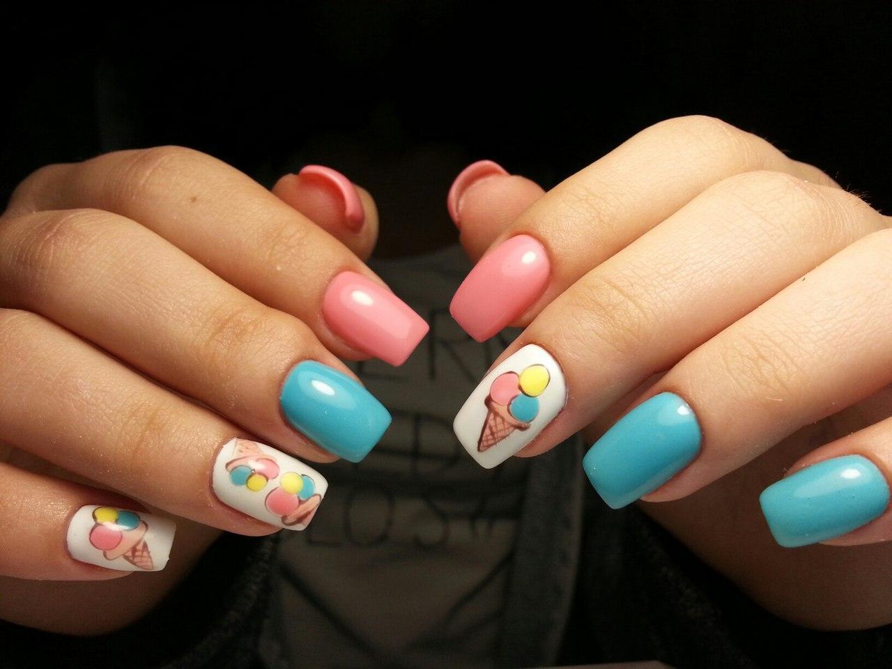 Вкусные ногти с мороженным
