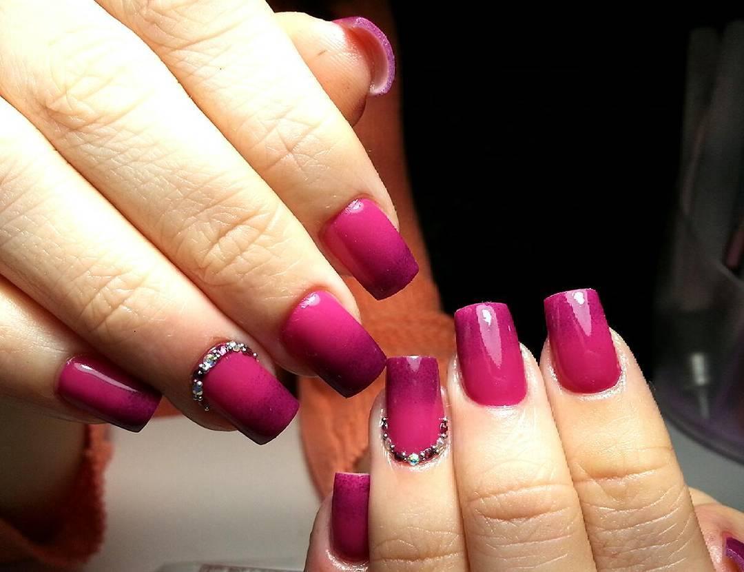 Розово-фиолетовое омбре