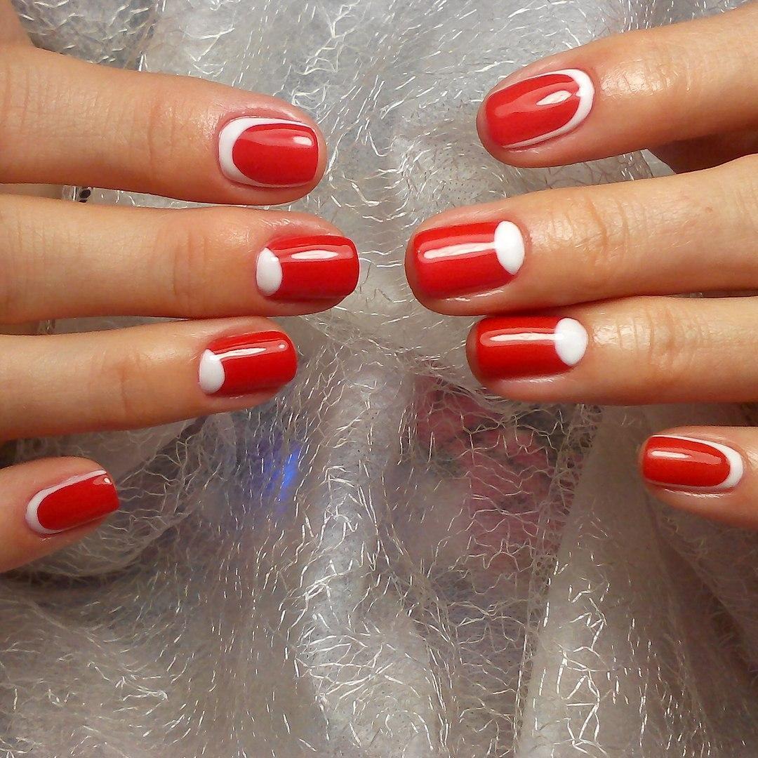 Фото шеллака на ногтях лунный маникюр