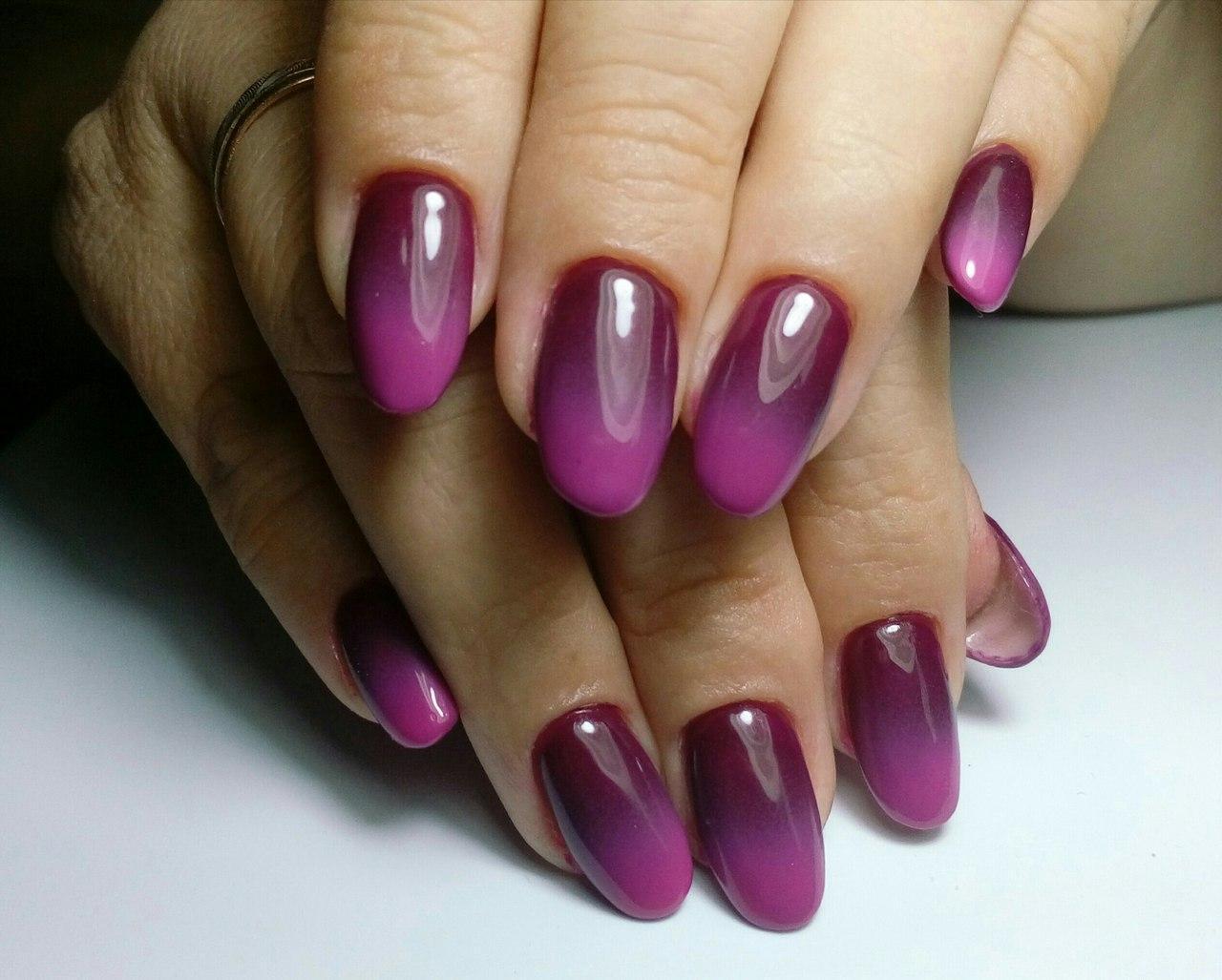 Омбре фиолетовых оттенков
