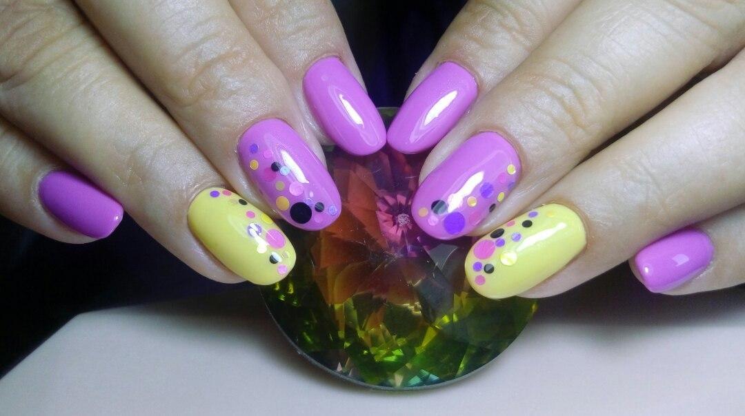 Прикольные разноцветные ногти