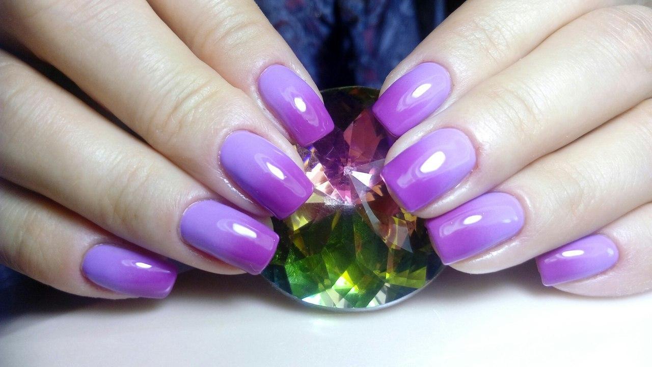 Великолепное омбре фиолетового цвета