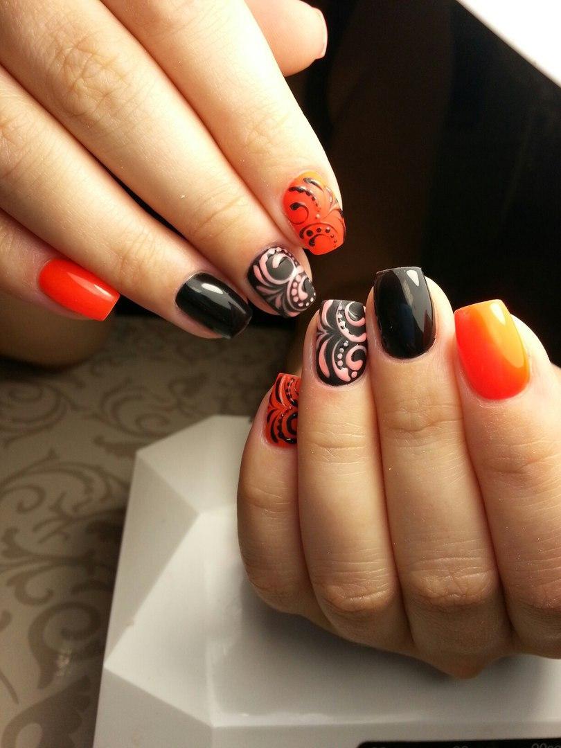 Изумительные узоры на ногтях