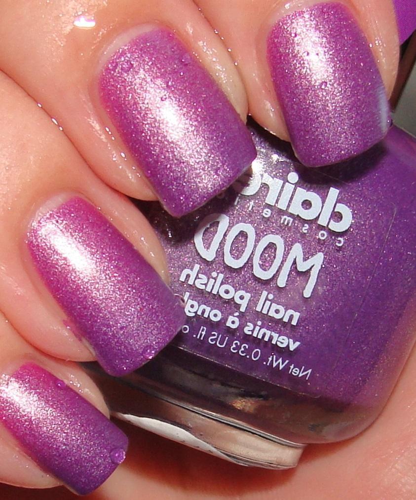 Фиолетовый термолак для красивых ногтей