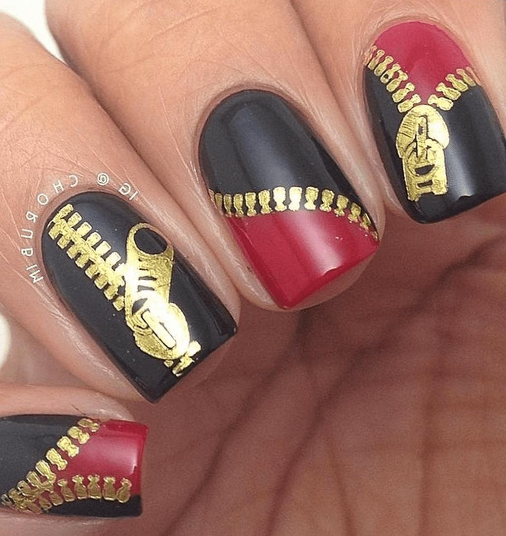 Фото дизайн ногтей с замочком