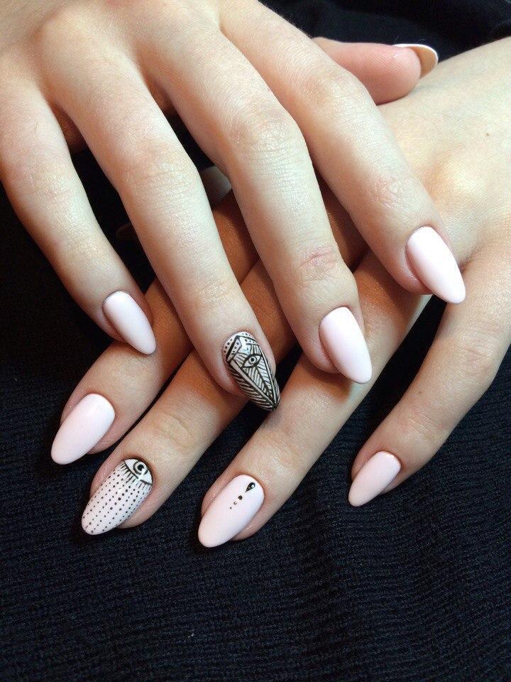 Маникюр-оберег на длинные ногти