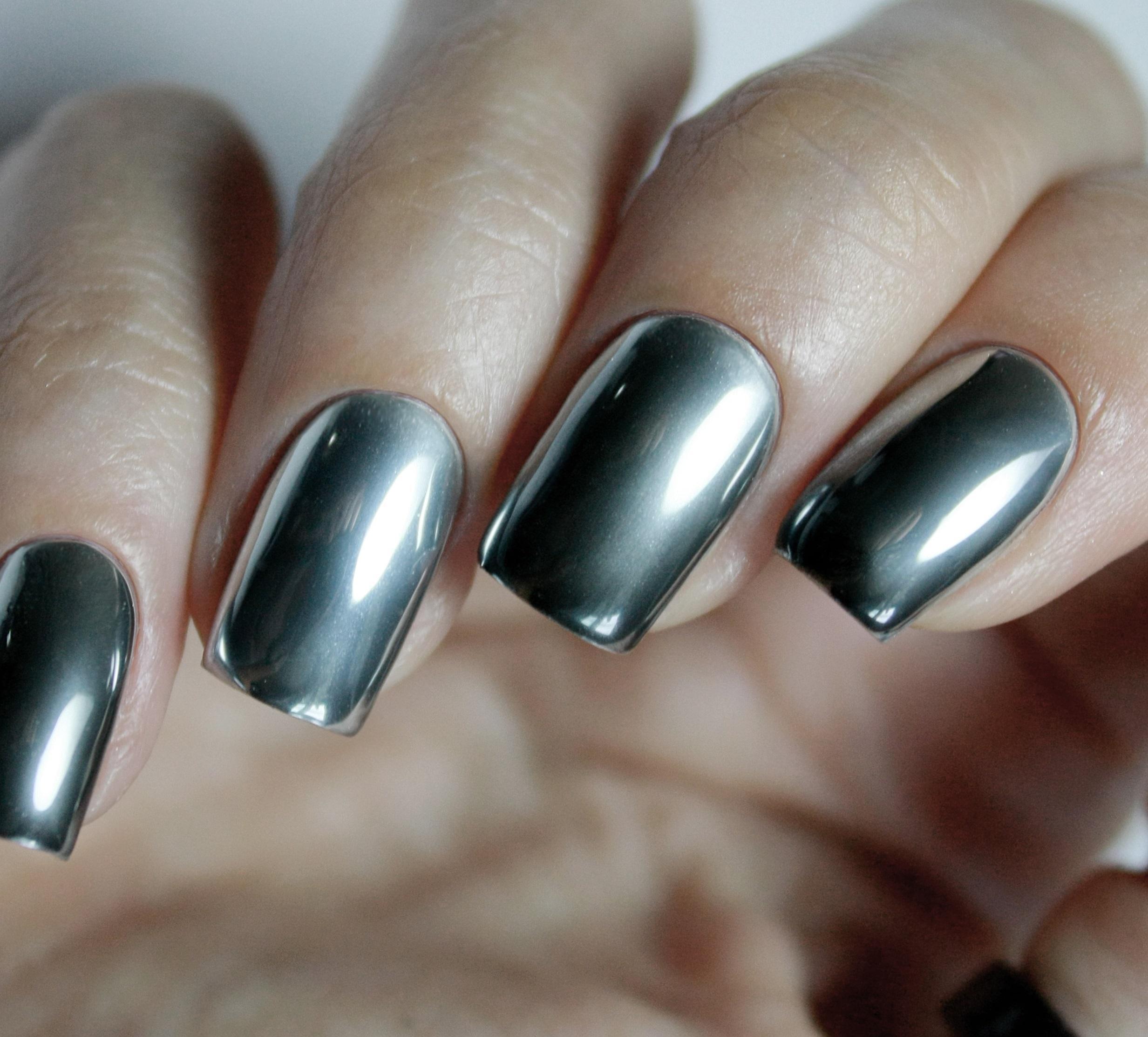 Хромированная втирка для длинных ногтей