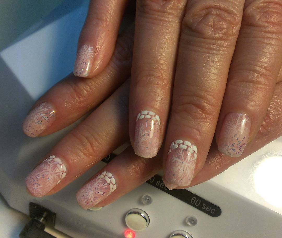 Снежные ногти на зиму