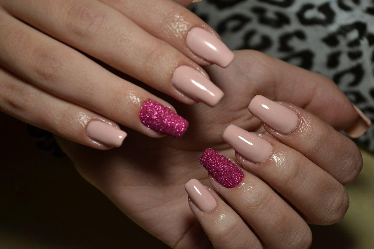 Длинные сахарные ногтики