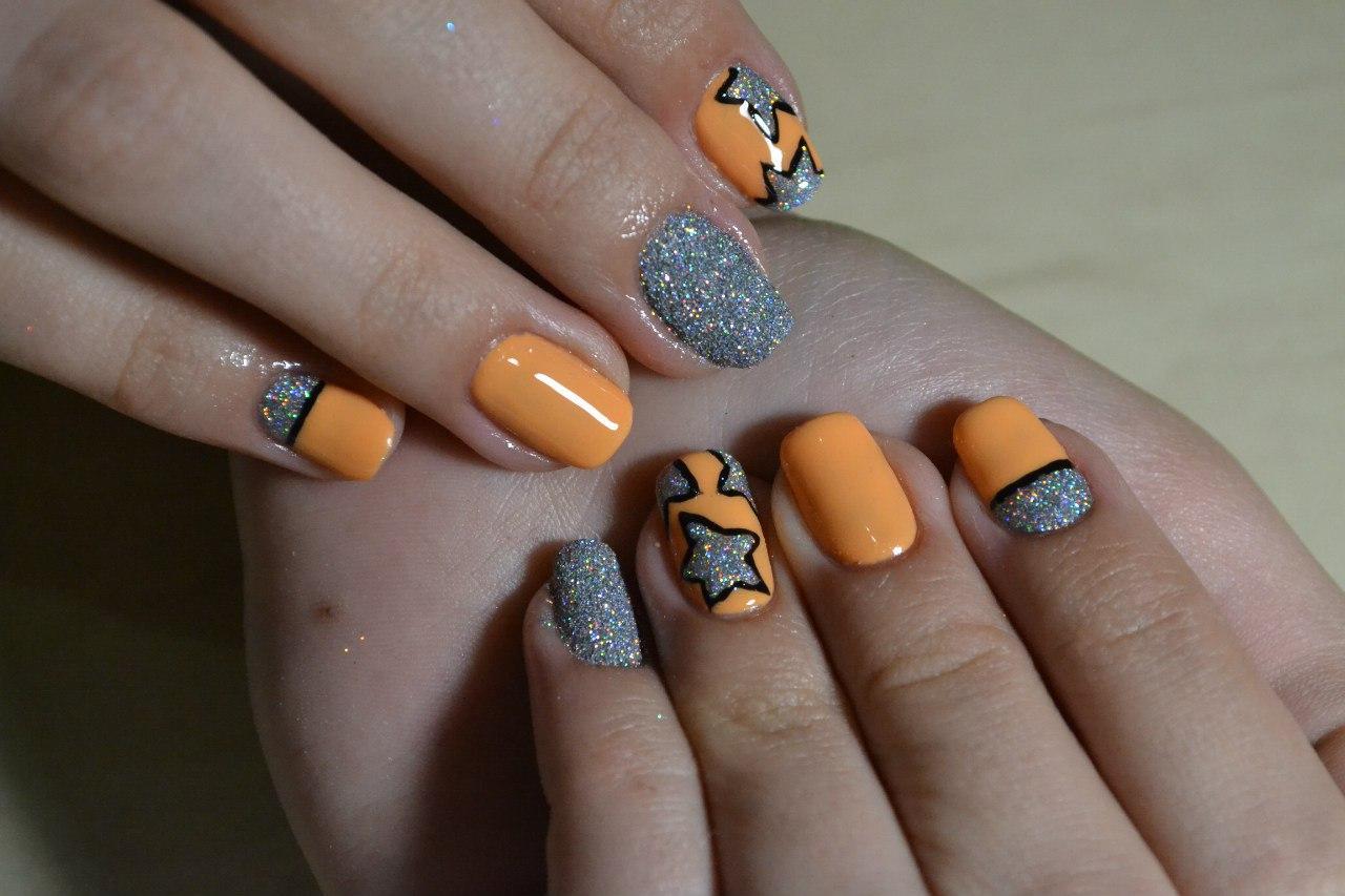 Крутые ногти со звёздами
