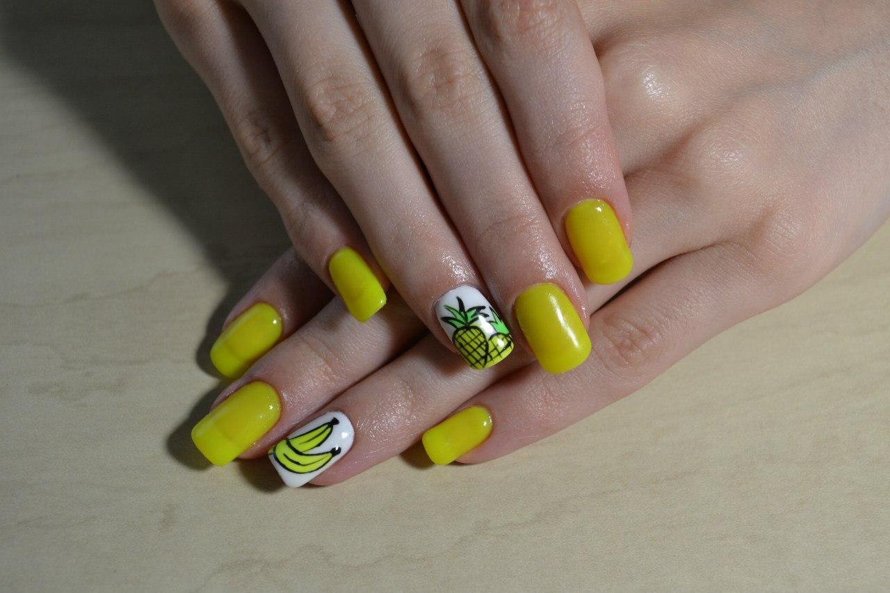 Экзотические фрукты на ногтях