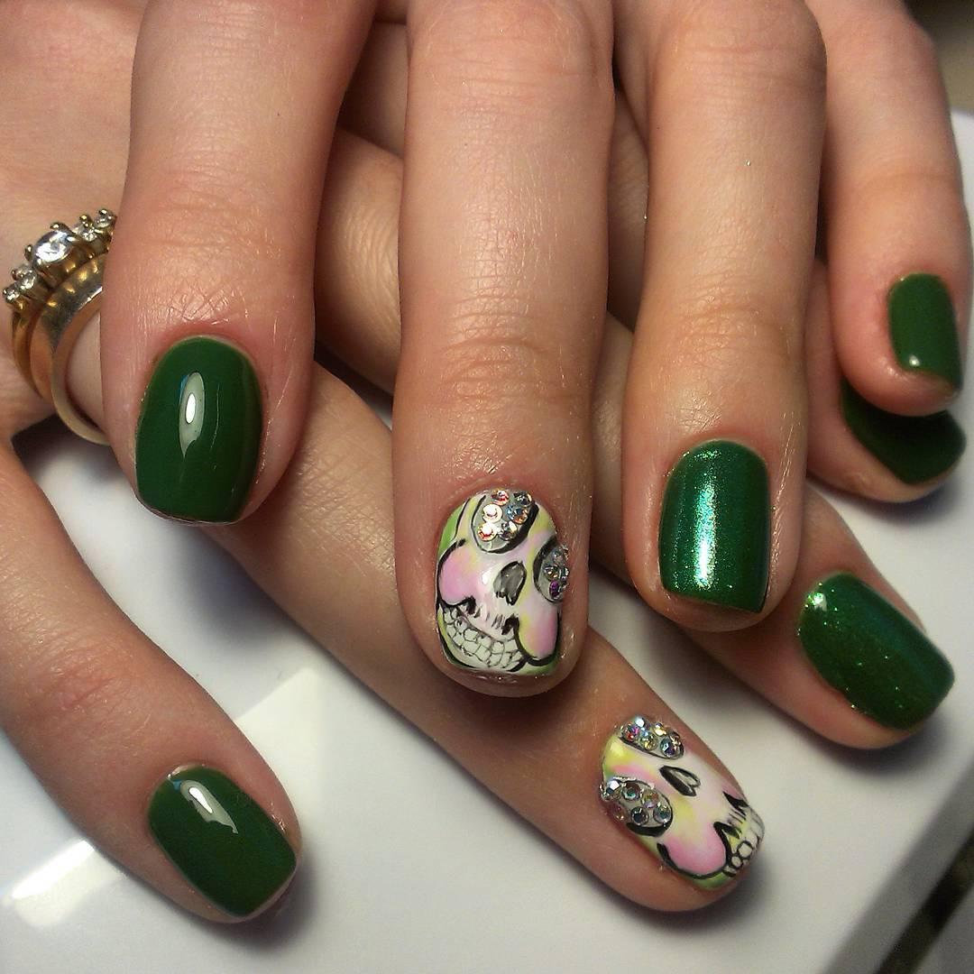 зеленые ногти дизайн фото шеллак сняла видео, котором
