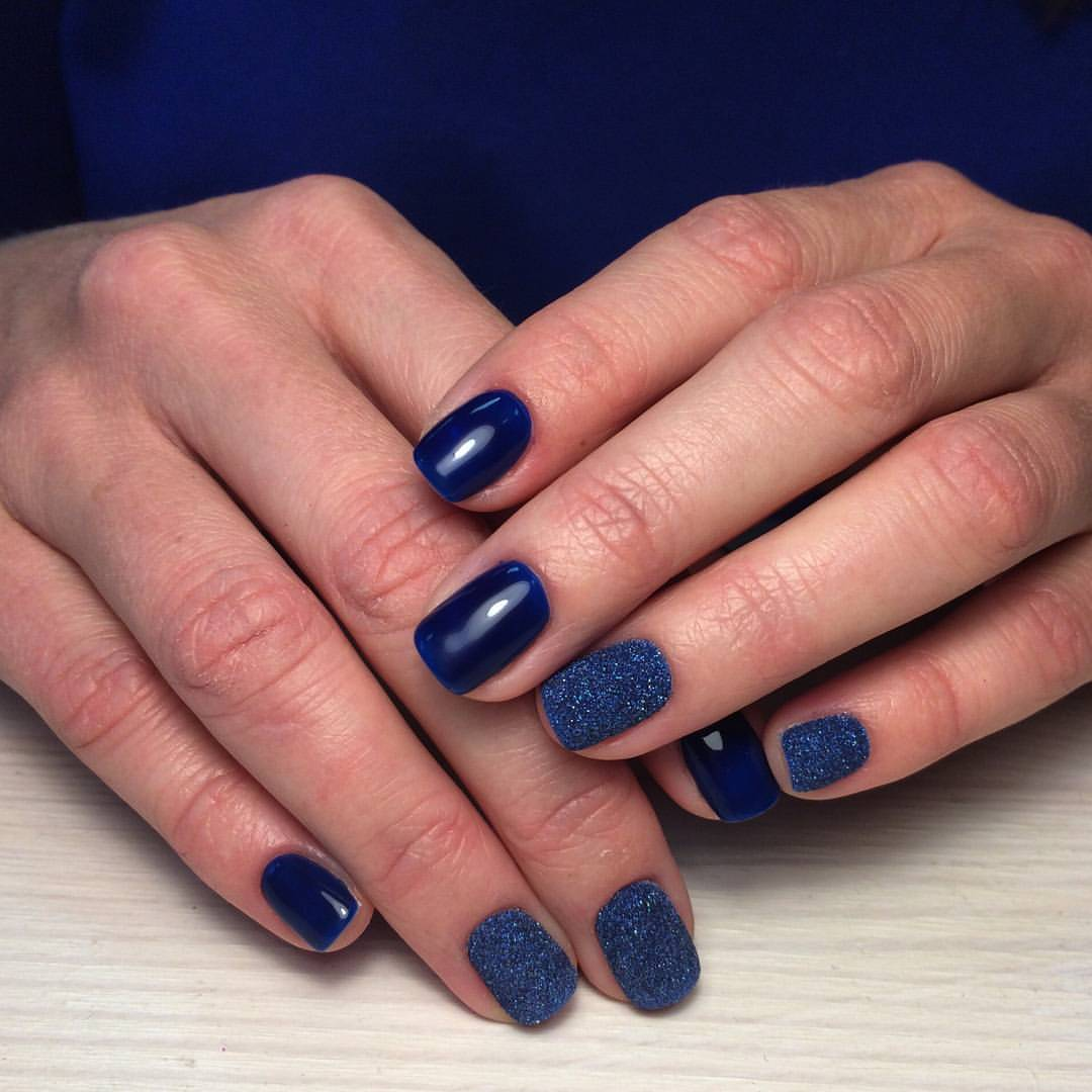 Замечательный сахарный дизайн синего цвета