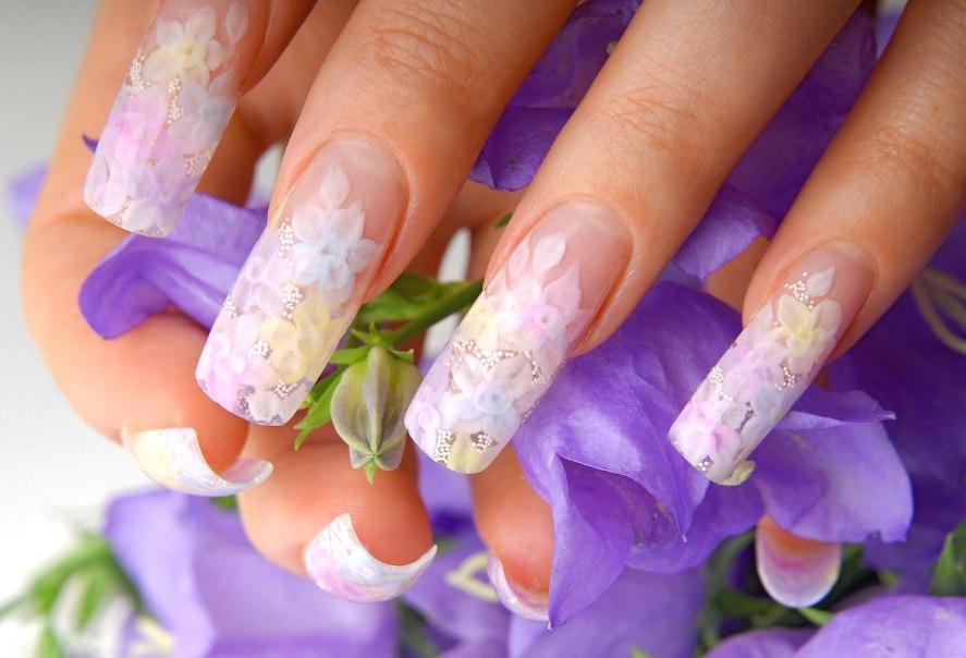 красивое наращивание ногтей фото