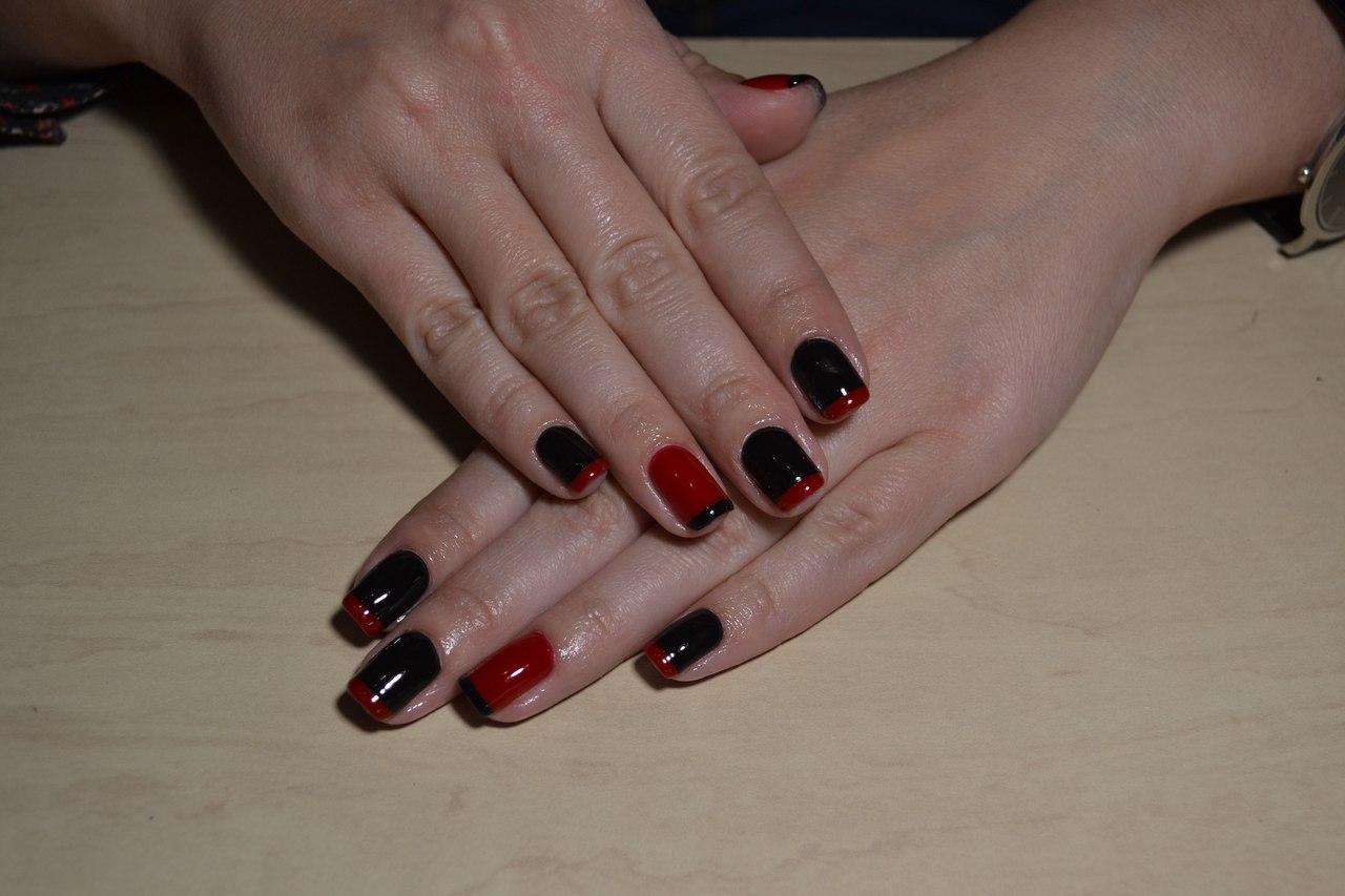 Чёрно-красный френч