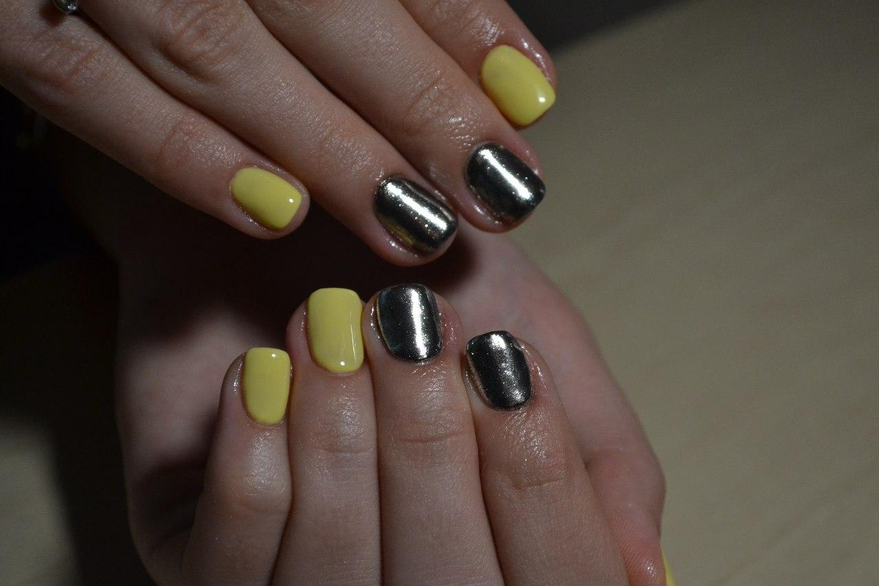 Втирка серебряного цвета с жёлтым шеллаком