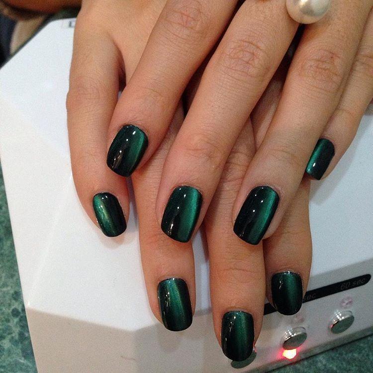 Ногти Миндальной Формы Красные Дизайн Фото