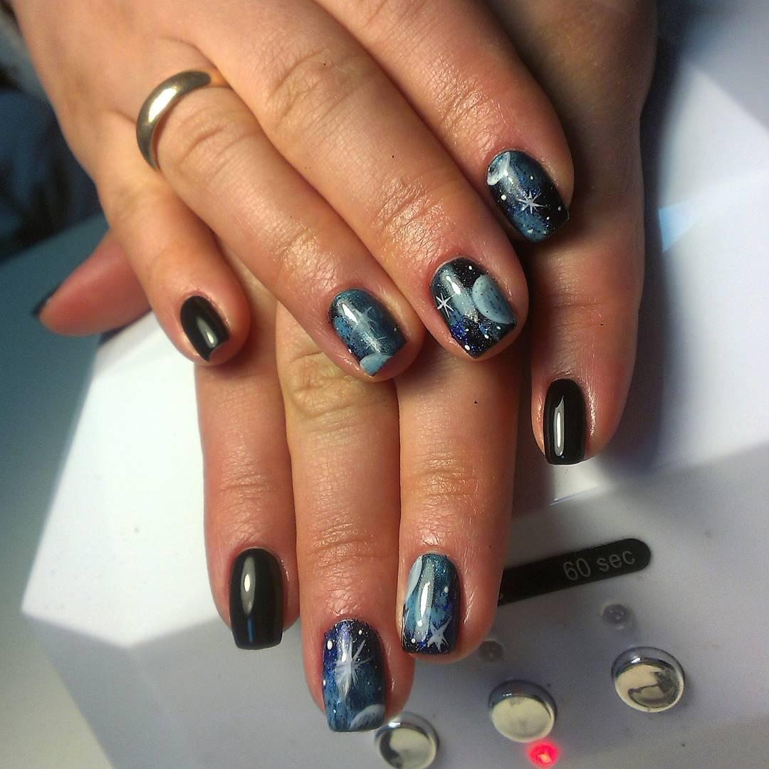 Галактические ногти со звездами