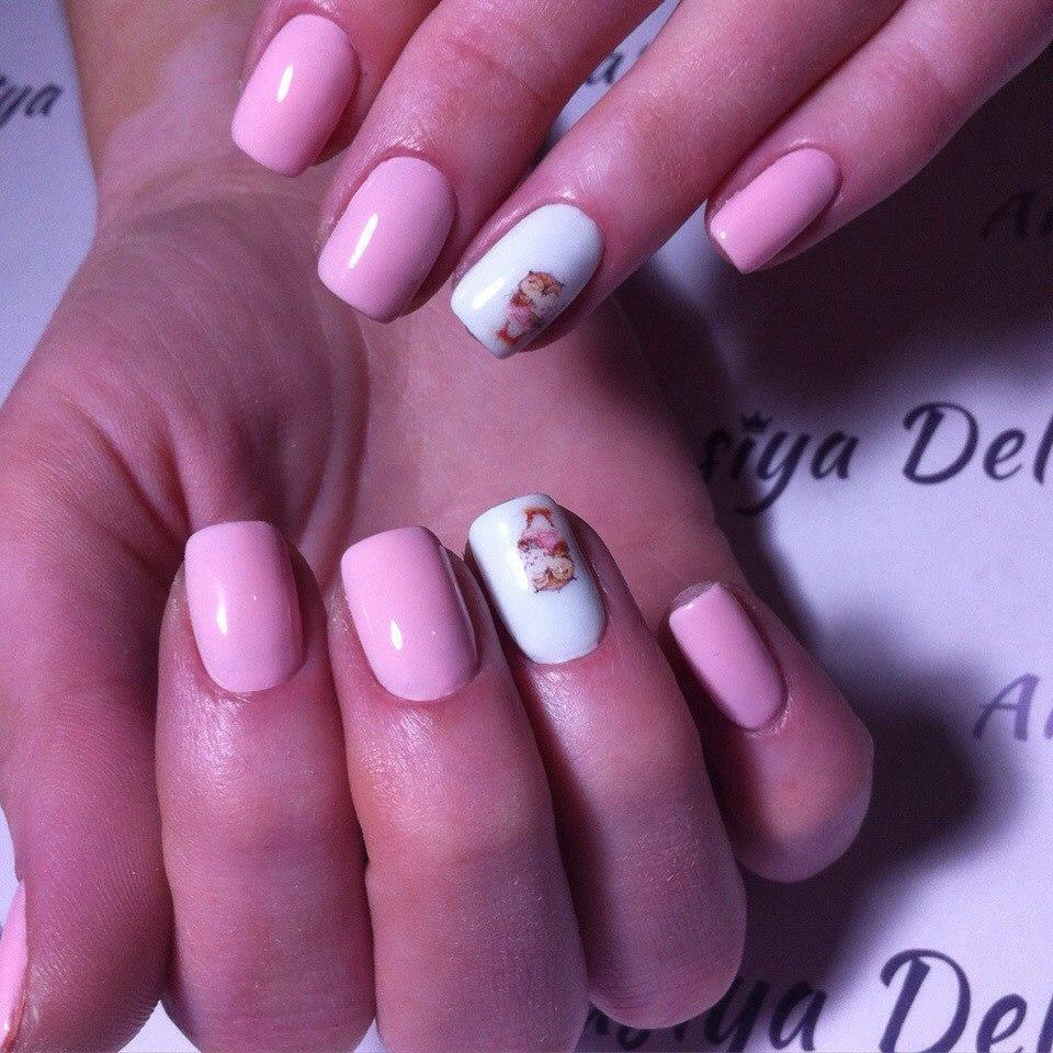 Милые совушки на ногтях