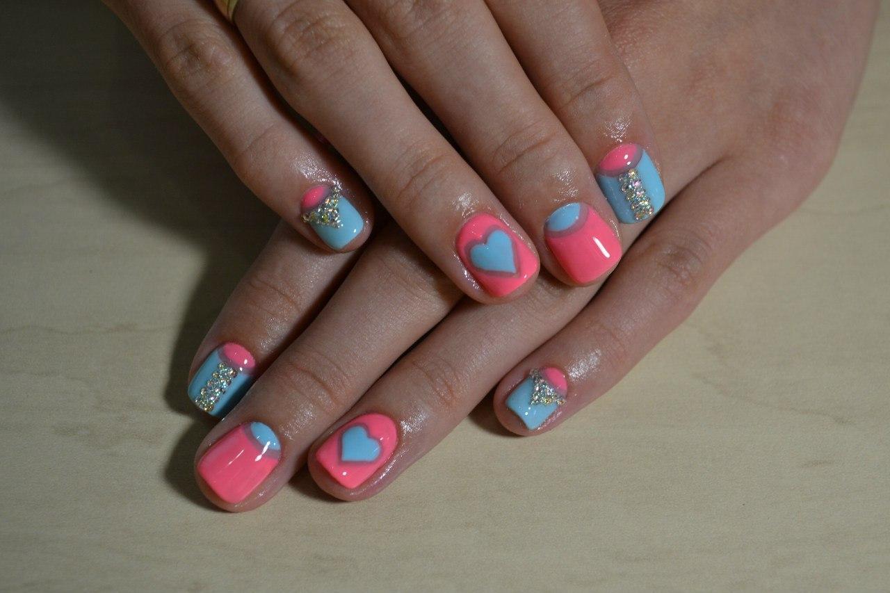 Красивые ногти на день Влюбленных