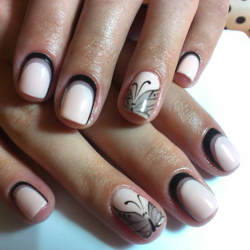 Обворожительная бабочка на ваших ногтях
