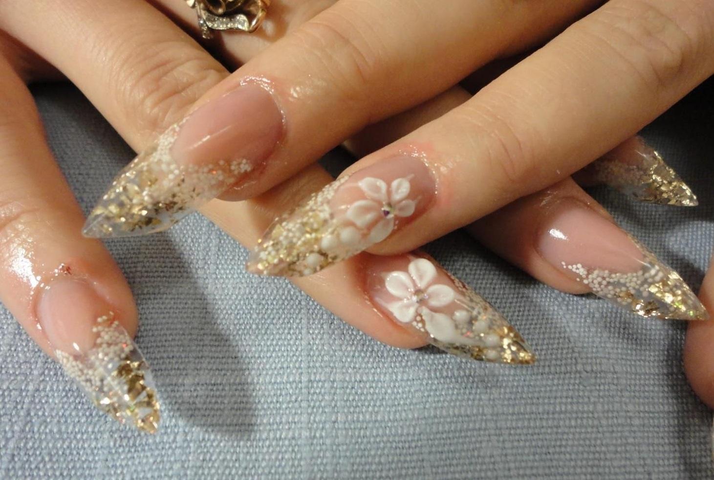 Лепка и аквариумное оформление на наращенных ногтях
