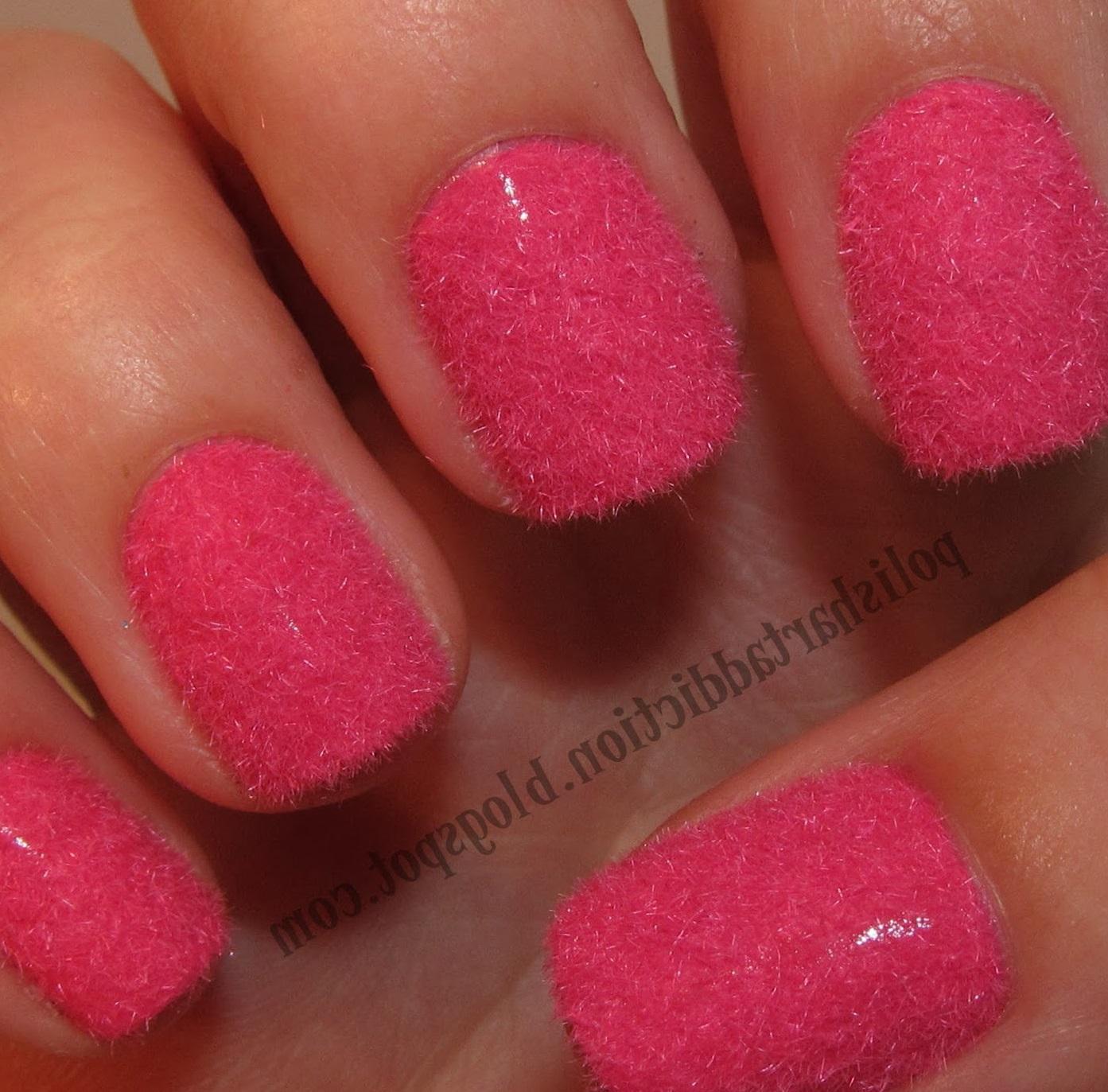 Коралловые пушистые ногти