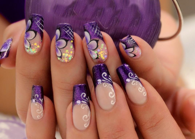 ногти нарощенные фиолетовые картинки стоит забывать