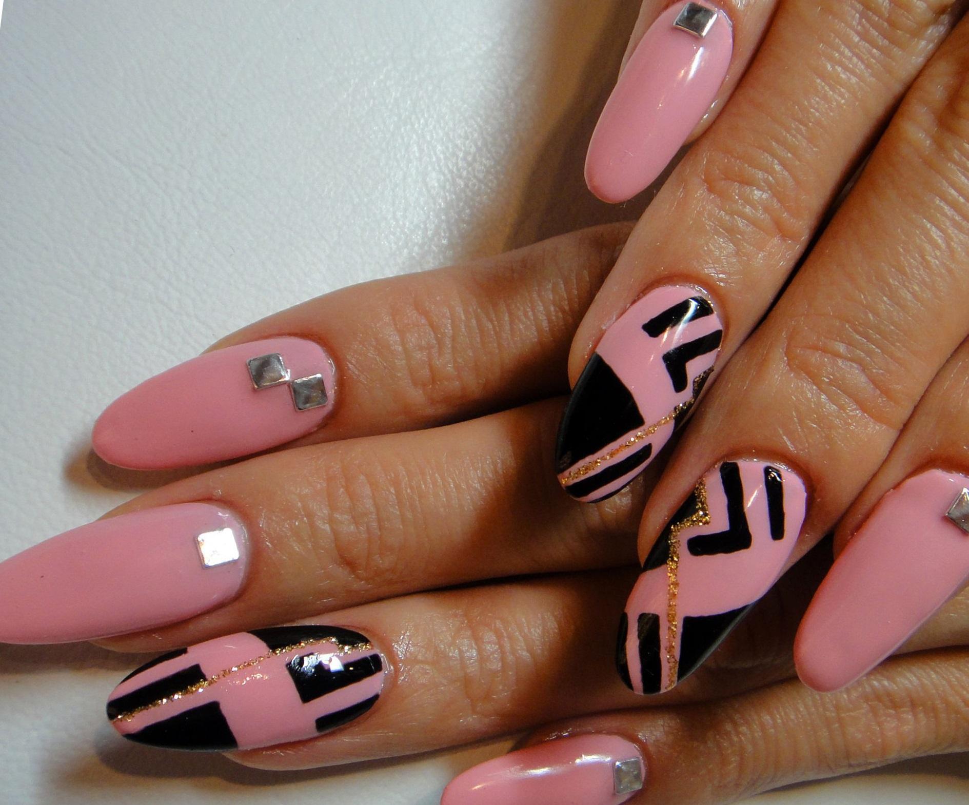 работала ногти розовый с черным фото дизайн картинки видите лишь