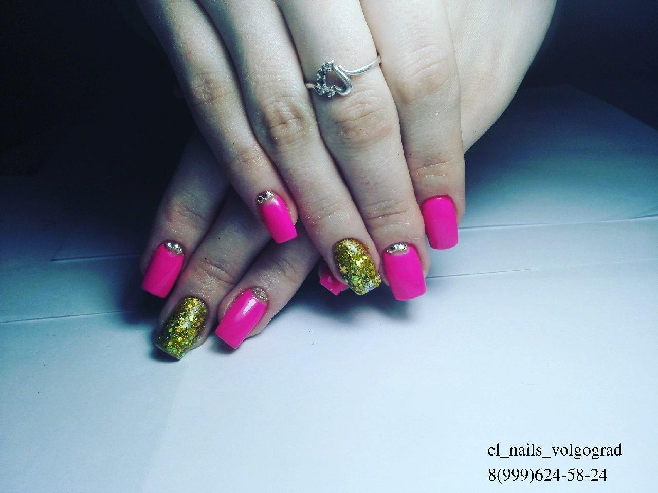 Летний дизайн — розовый с золотом
