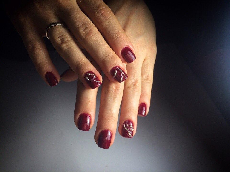 Красивый Маникюр Серый С Розовым Фото
