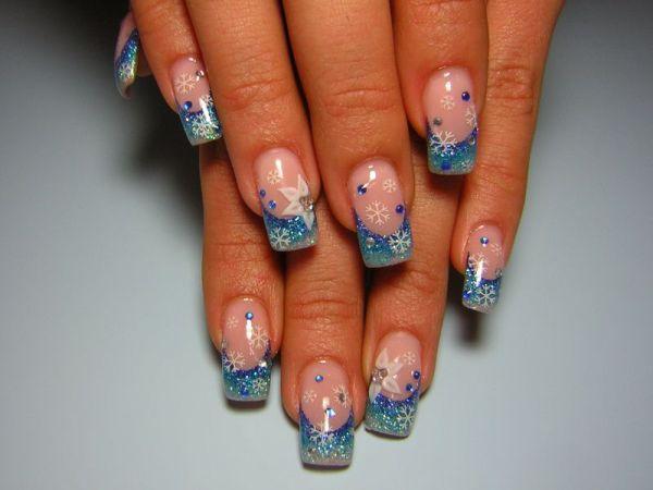 Ногти Рисунок Цветы Фото Френч