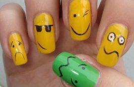 А вы умеет делать простые рисунки на ногтях?