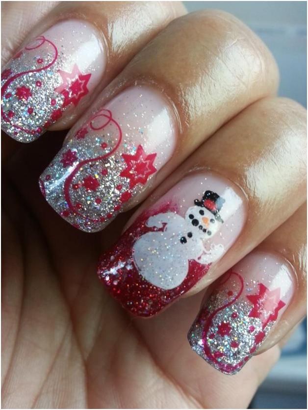 Рисунки на ногтях на Новый год