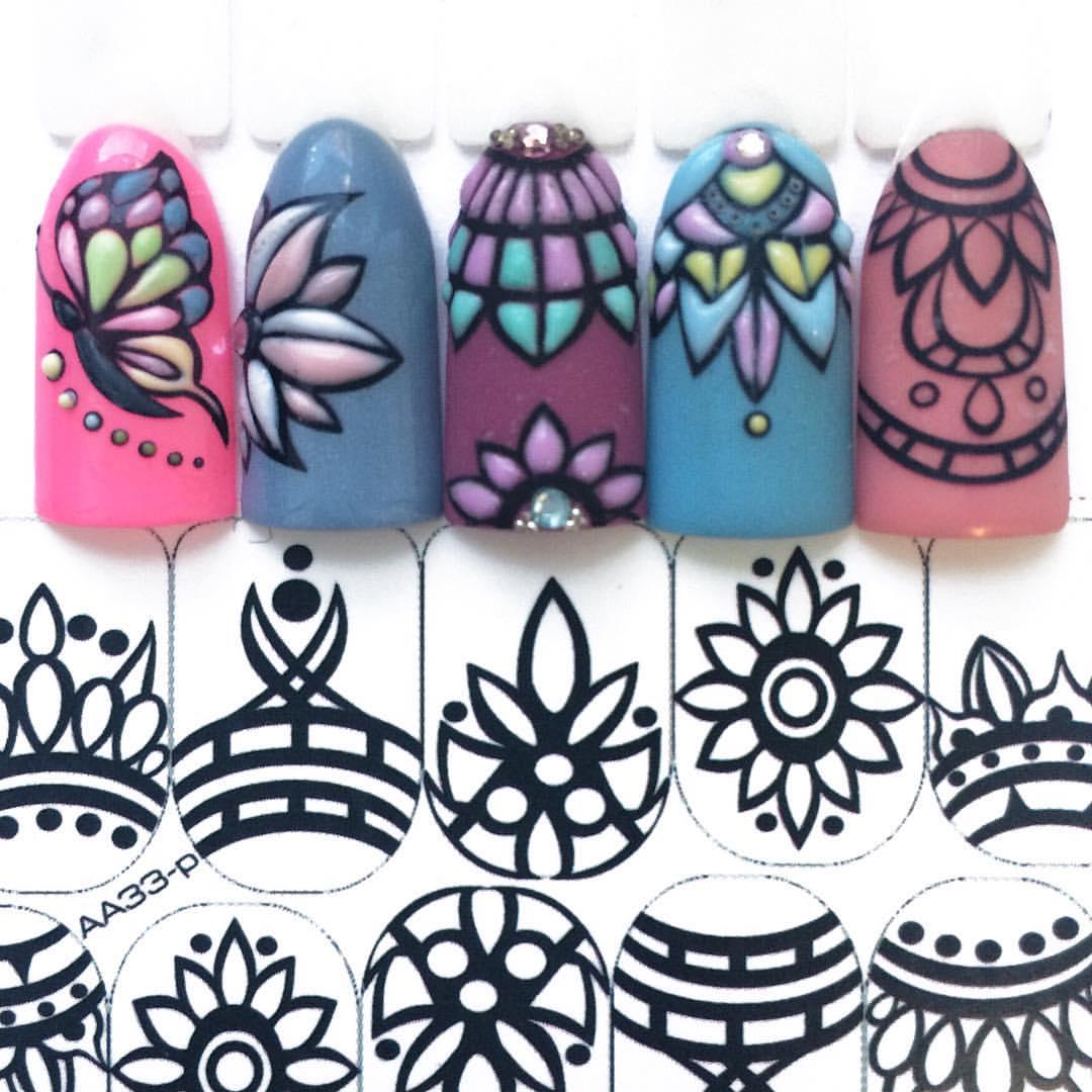 Слайдеры трафареты с геометрическими цветами