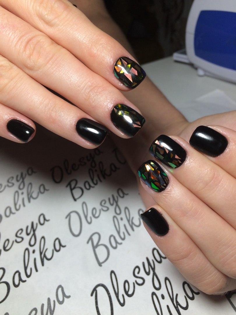 Дизайн ногтей 2017 новинки черного цвета